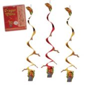 Chinese Dragon Whirl Decorations-3 Pack
