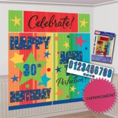 Celebrate Birthday Scene Setter Wall Decorating Kit
