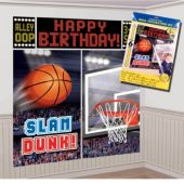 Basketball Birthday Scene Setter Wall Decorating Kit