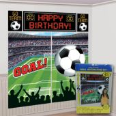 Soccer Birthday Wall Decorating Kit