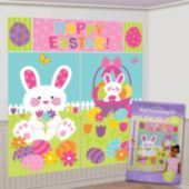 Happy Easter Scene Setter Wall Decoration Kit