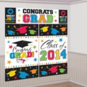 Colorful Congrats Grad Wall Decoration