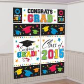 Colorful Congrats Grad 2015 Wall Decoration