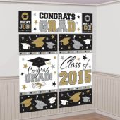 Congrats Grad 2015 Wall Decorating Kit