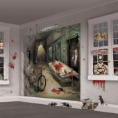 Haunted Asylum Wall Decorating Kit