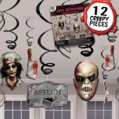 Haunted Asylum Swirl Decorations-12 Pack