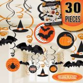 Modern Halloween Swirl Decorations – 30 Pack