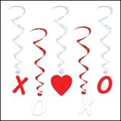 Valentine's Whirl Decorations - 5 Per Unit