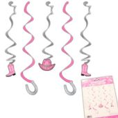 Pink Bandana Hanging Decorations - 5 Per Unit