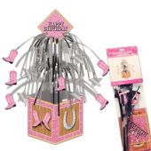"Pink Bandana Centerpiece - 14 1/2"""