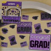 Purple Graduation Cutouts-30 Per Unit