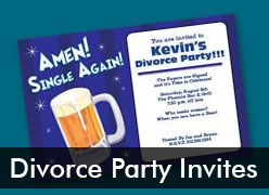 Personalized Divorce Party Invitations