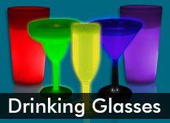 Glow Cups & Glow in the Dark Martini Glasses