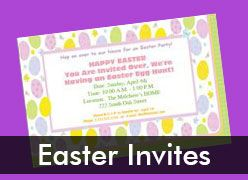 Personalized Easter Invitations