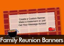 Family Reunion Custom Banners