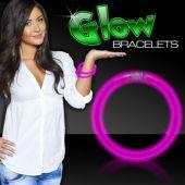 """8"""" Pink Supreme 6mm Glow Bracelets 50 Per Tube"""