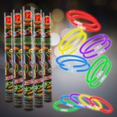 Super Bright Glow Bracelets - 12 Pack