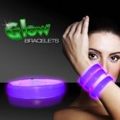 "9"" Deluxe Purple Triple Wide Glow Bracelets  25 Per Tube"