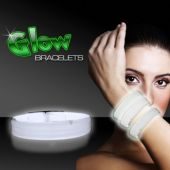 "White Glow Triple Wide Bracelets-9""-25 Pack"