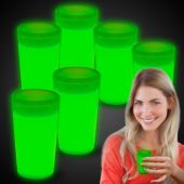 Green Glow Shot Glasses-6 Pack
