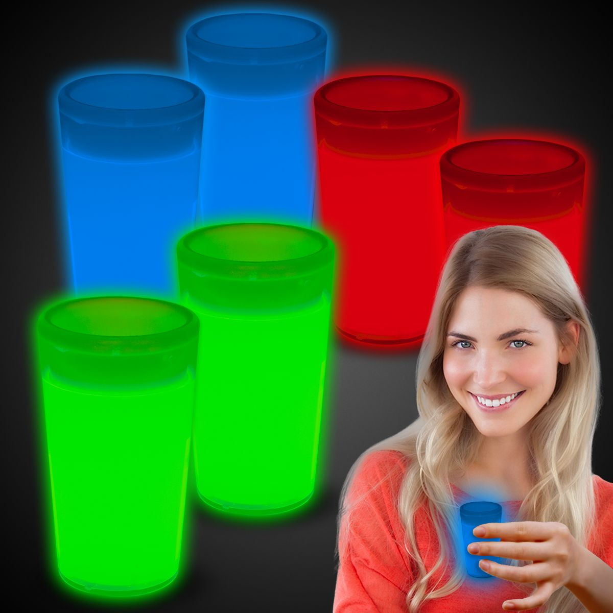 Glow Shot Glasses-6 Pack GCP158UN
