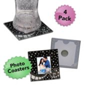 Hollywood Glass Photo Coasters-4 Pack