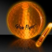 Orange Glow Flyer Lighted Golf Ball With Jumbo Lightstick
