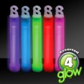 "Premium Assorted Color 4"" Glow Sticks - 50 Pack"