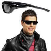 Black Wrap Around Sunglasses