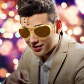 Gold Elvis Sunglasses