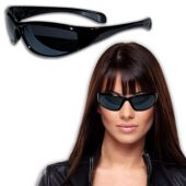 Celebrity Looking Black Wrap Sunglasses