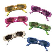 Funky Glitter Glasses - 12 Pack