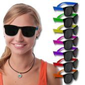 Assorted Color Neon Sunglasses - 12 Pack