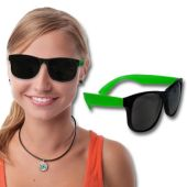 Neon Green Retro Sunglasses-12 Pack