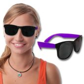 Neon Sunglasses With Purple Arms