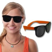 Neon Orange Retro Sunglasses-12 Pack