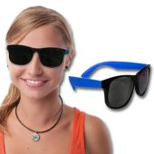 Neon Blue Retro Sunglasses-12 Pack