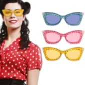 Assorted Color Cheetah Print Sunglasses - 12 Pack