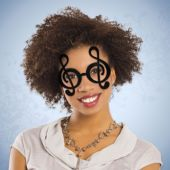 Black Treble Clef Note Glasses – 12 Pack