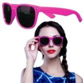 Pink Plastic Frame Wayfarer Sunglasses – 12 Pack