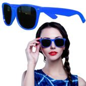 Blue Plastic Frame Wayfarer Sunglasses – 12 Pack