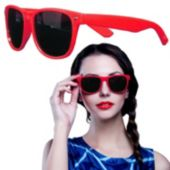 Red Plastic Frame Wayfarer Sunglasses – 12 Pack