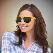 Yellow Retro Sunglasses-12 Pack