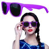 Purple Plastic Frame Wayfarer Sunglasses – 12 Pack
