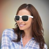 White Retro Sunglasses-12 Pack