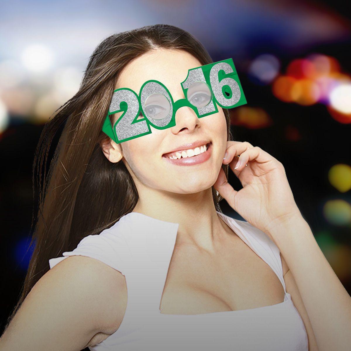 Multi-Color 2017 Glitter Glasses - 6 Per Unit GLS293UN