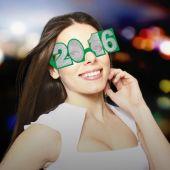 Multi-Color 2016 Glitter Glasses - 6 Pack