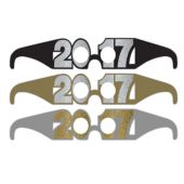 Black, Gold & Silver 2017 Glasses - 6 Per Unit