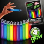 "Assorted Color 4"" Glow Sticks - Retail 10 Pack"