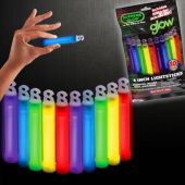 "Assorted Color Glow Sticks-4""-Retail 10 Pack"